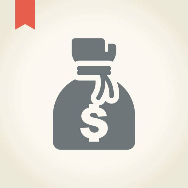 Money bag icon Money bag icon,vector illustration. millionnaire stock illustrations