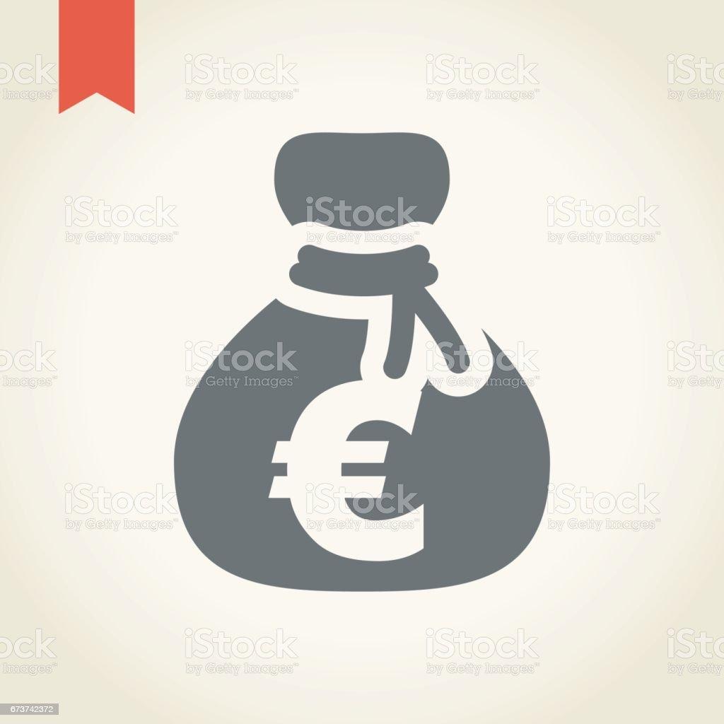 Para çantası simgesini royalty-free para çantası simgesini stok vektör sanatı & abd'nin daha fazla görseli