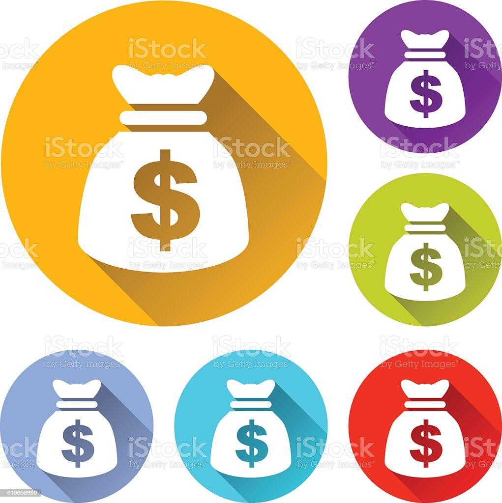 money bag icons vector art illustration