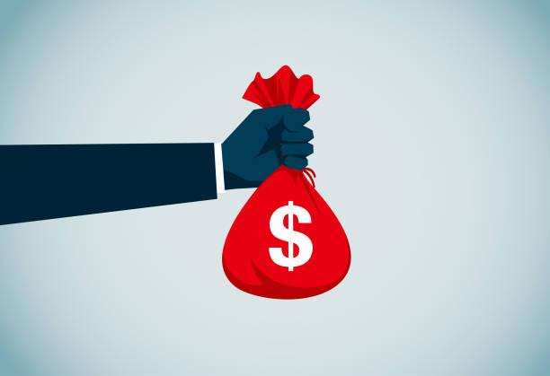 Money Bag vector art illustration