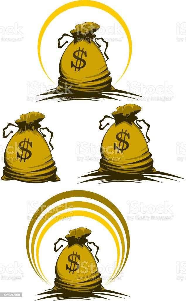 Money bag royalty-free money bag stock vector art & more images of bag