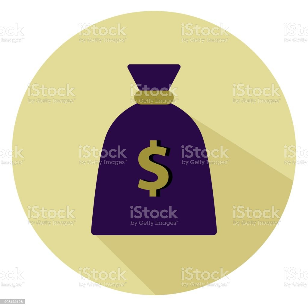 Money bag with a dollar sign isolated on white background. Vector illustration. vector art illustration