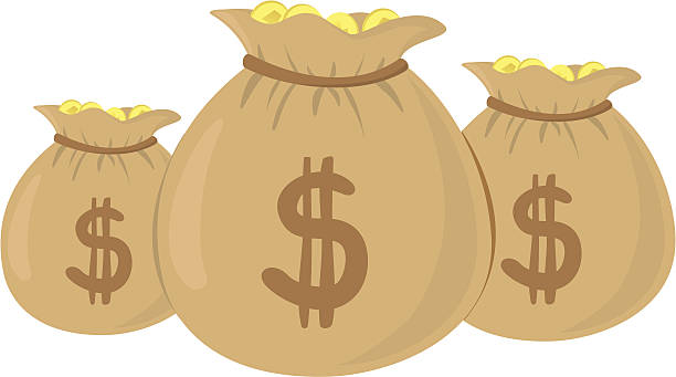 Royalty Free Money Bag Clip Art, Vector Images ...