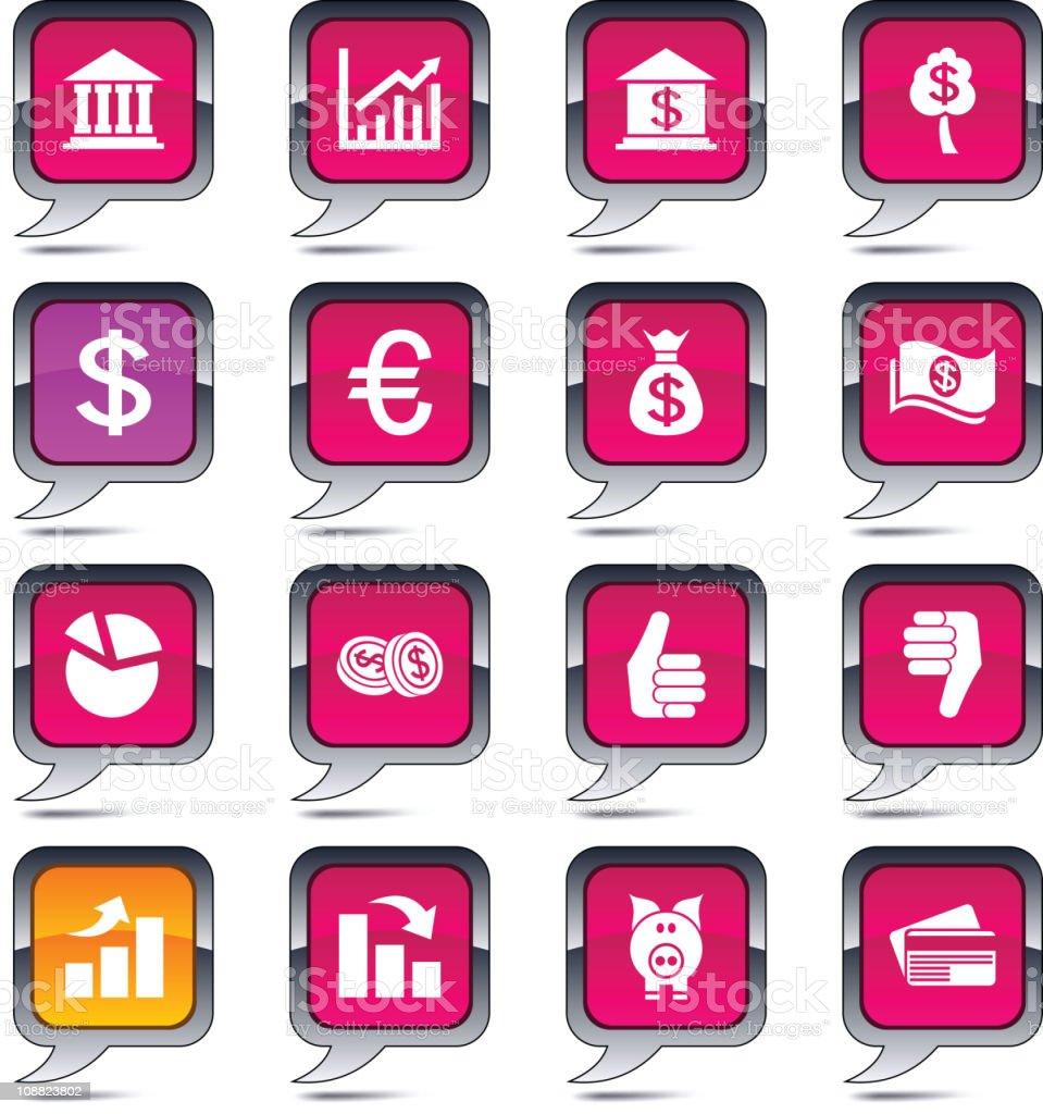 Money  balloon icons. royalty-free stock vector art
