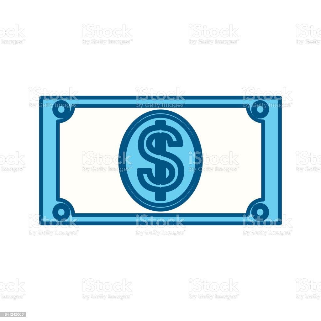 Money billet isolated vector art illustration