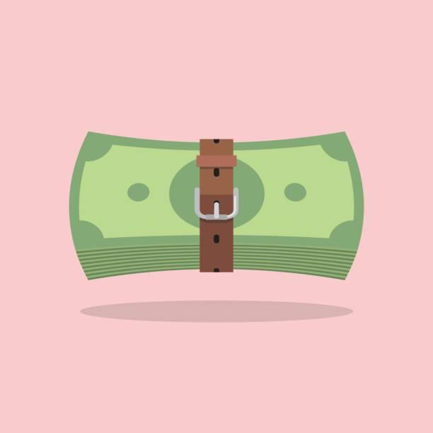 Factures d'argent avec une ceinture serrée - Illustration vectorielle