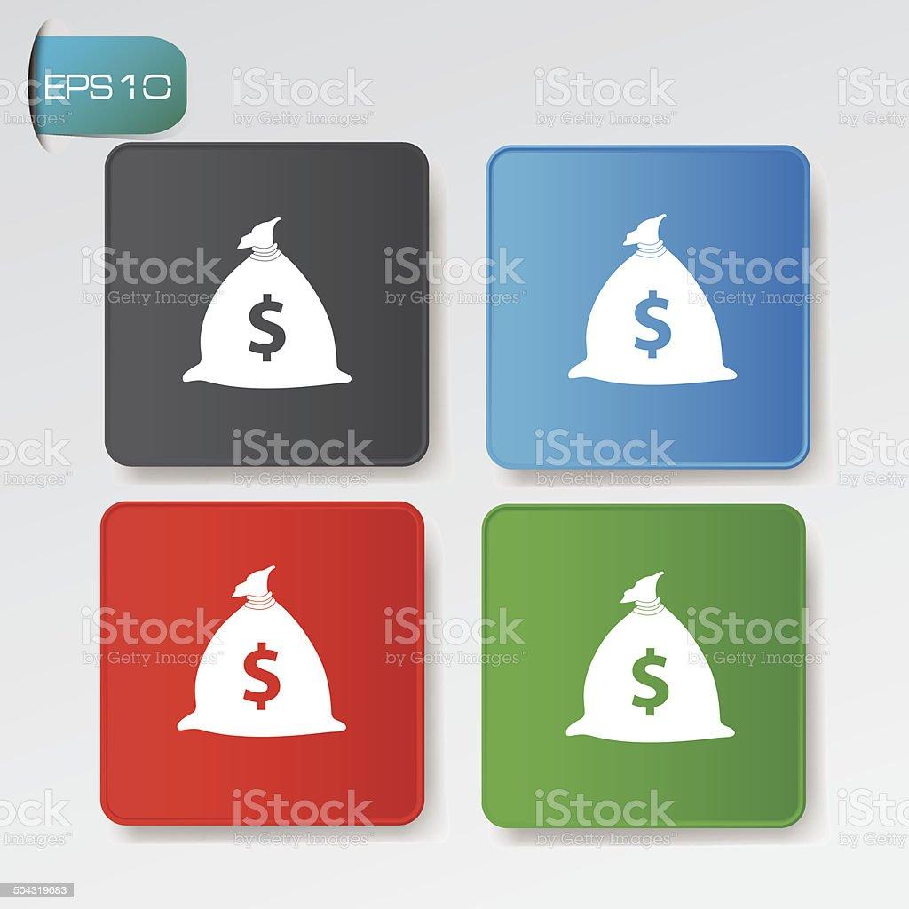 Money buttons,vector royalty-free stock vector art