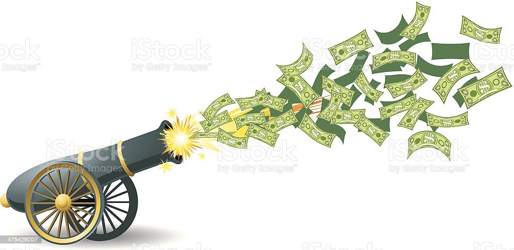 Image result for money cannon