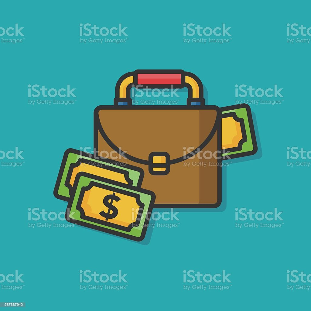 кейс с деньгами вектор