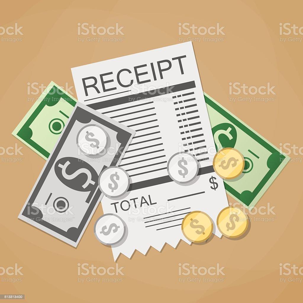 Money Cash And Receipt Royalty Free Money Cash And Receipt Stock Vector Art  U0026amp;  Money Receipt Design