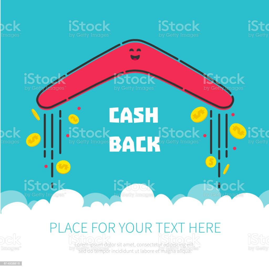 Money cash back vector art illustration