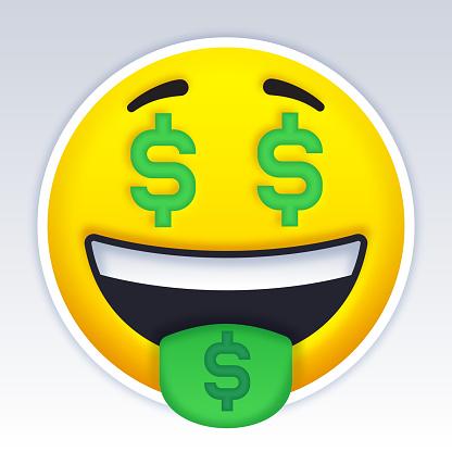 Money Cash Dollar Face Emoji