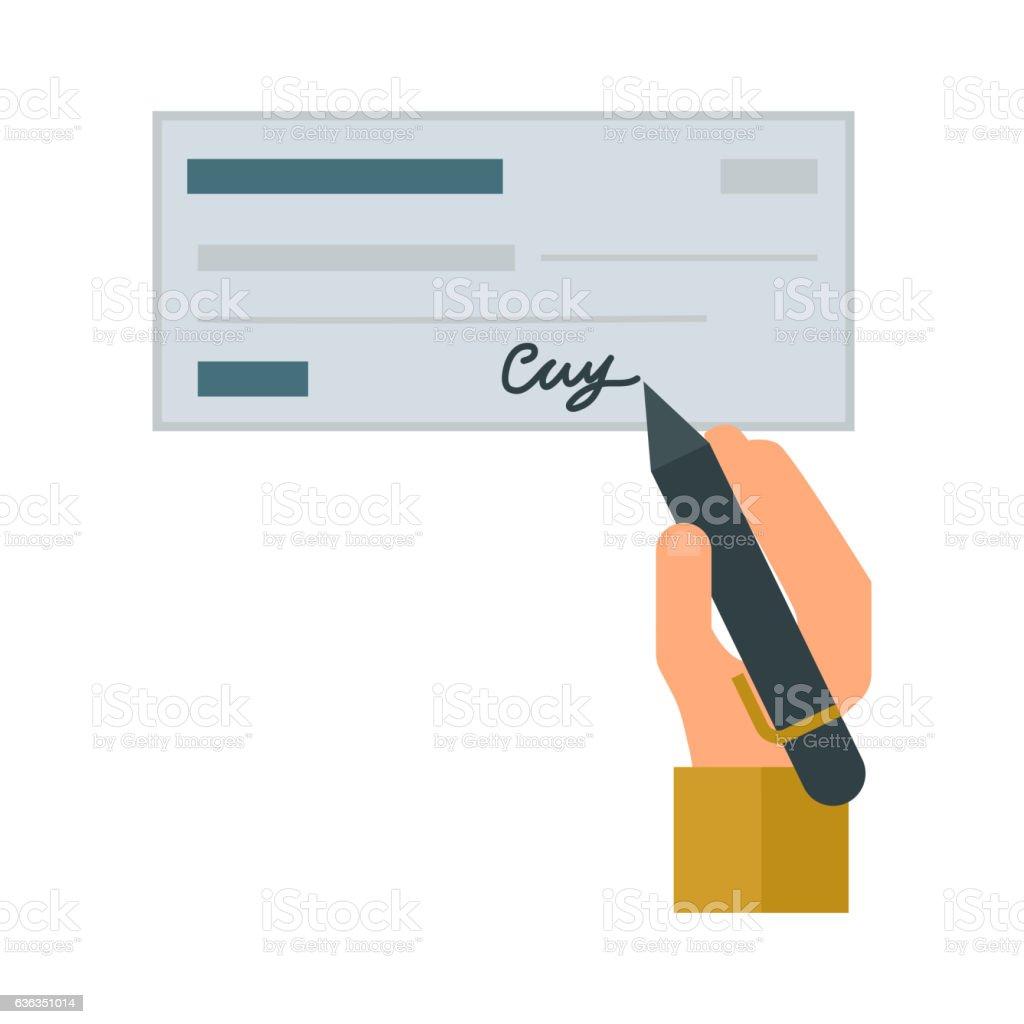 money check vector illustration イラストレーションのベクターアート