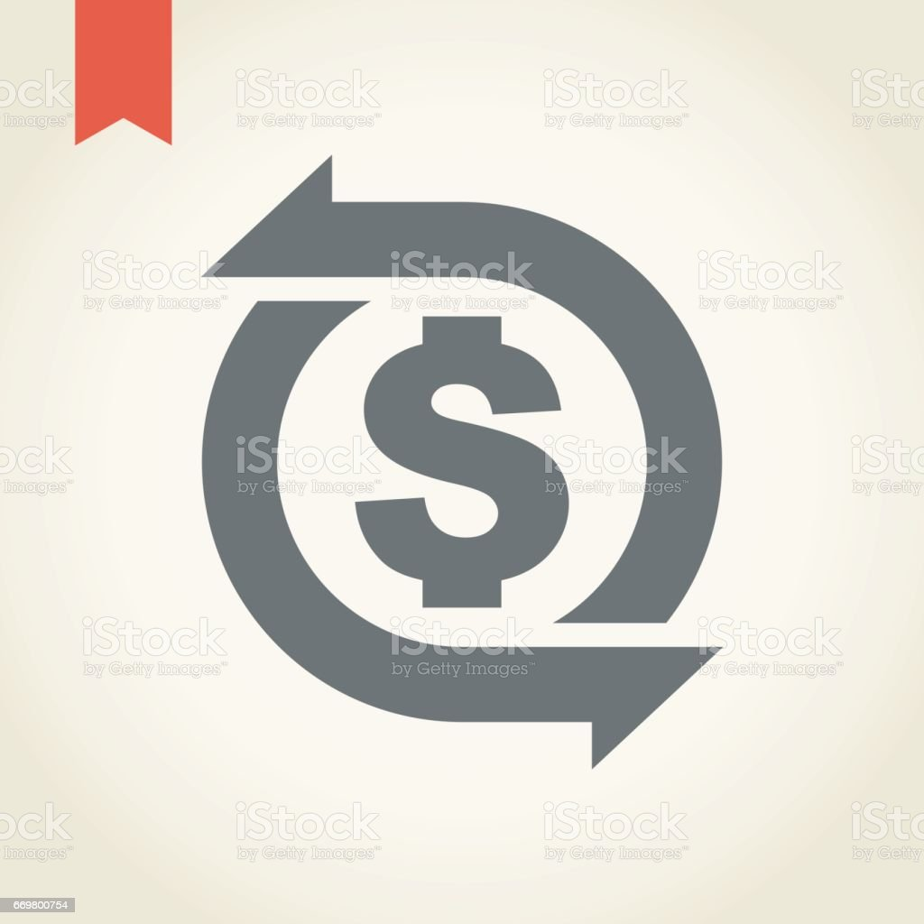 Money Circulation Icon vector art illustration