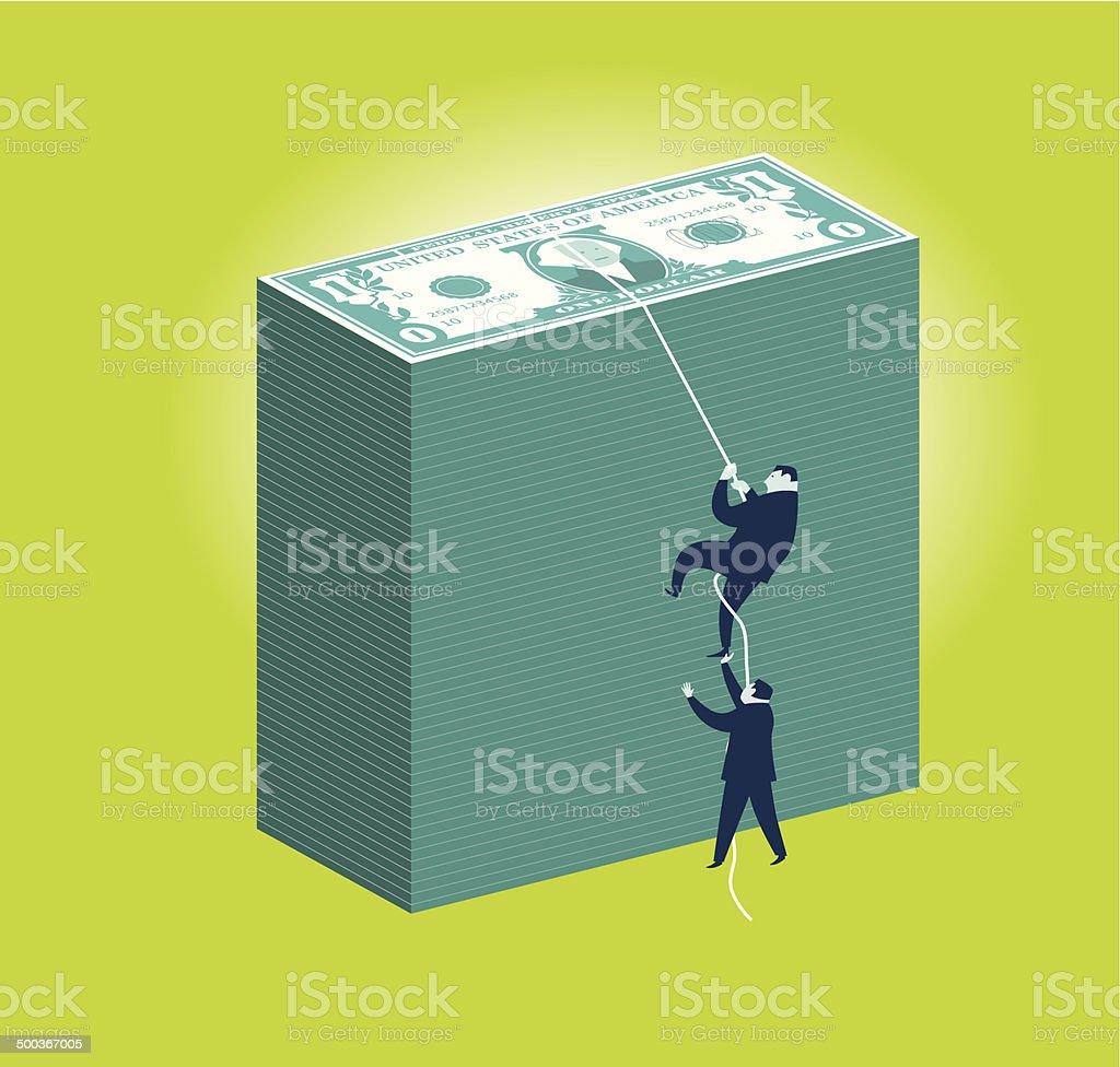 Money Climbers vector art illustration