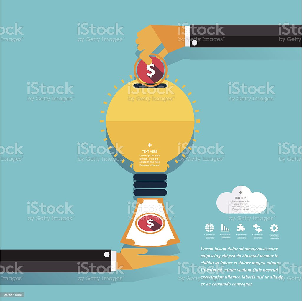 Money Concept Design and Business background. Vector dollar, eur vector art illustration