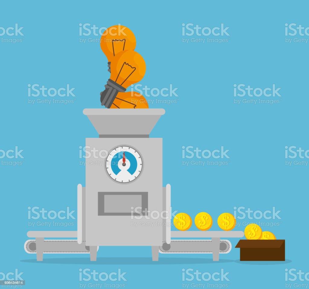 projeto de conceito de dinheiro - ilustração de arte em vetor