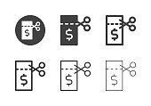 Money Coupon Icons Multi Series Vector EPS File.
