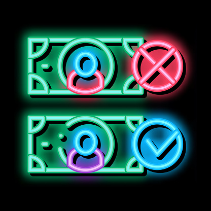 Money Currency Comparisons neon glow icon illustration