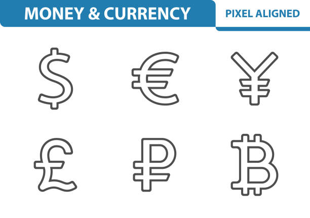Money & Currency Icons Professional, pixel perfect icons, EPS 10 format. japanese currency stock illustrations