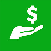 Money Dollar Sign in Hand Icon