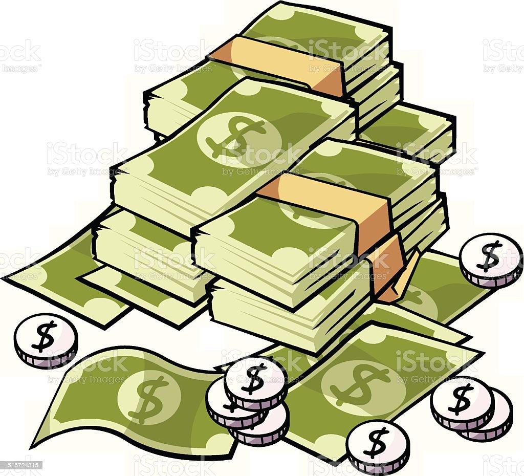Money, dollar vector art illustration