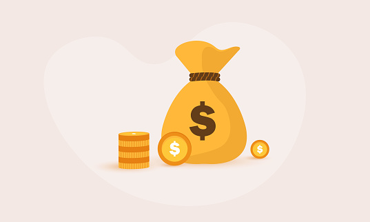 Money doller bag on white background illustration vector stock illustration