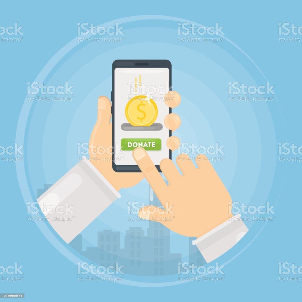 Don Dargent Par Lintermediaire De Smartphone Cliparts Vectoriels