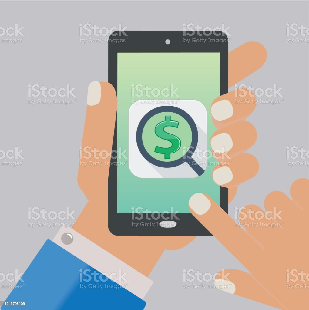 Money Earning Search App Stock Vector Art & More Images of Business