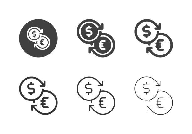 Money Exchange Icons - Multi Series vector art illustration