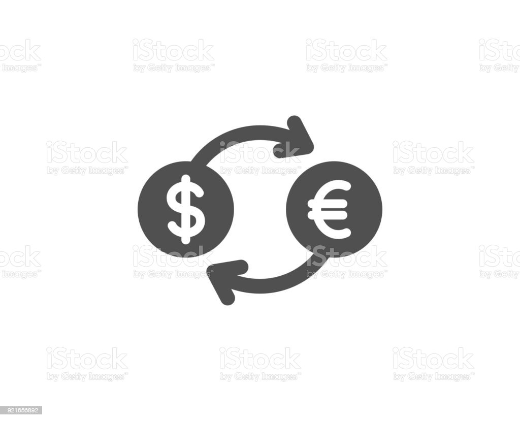 Money exchange simple icon. Banking currency. vector art illustration