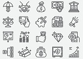 istock Money Finance Business Line Icons 1028613092