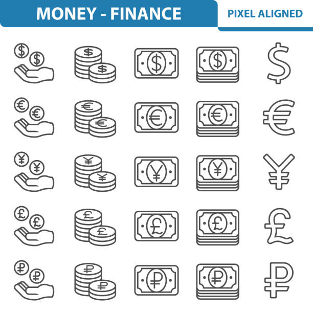 Money - Finance Icons Professional, pixel perfect icons, EPS 10 format. taiwanese currency stock illustrations