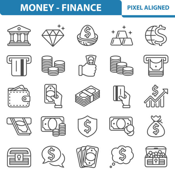 Money - Finance Icons Professional, pixel perfect icons, EPS 10 format. nest egg stock illustrations