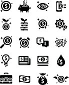 Money Financial Business Investment Vector Icon Set