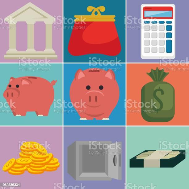 Vetores de Ícones De Ajuste Financeiro Dinheiro e mais imagens de Antiguidades