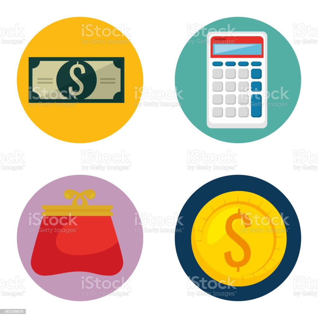 money financial set icons - Royalty-free Antiquities stock vector