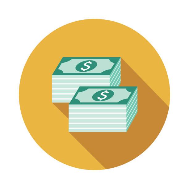 geld-flaches design-verbrechen & strafe symbol - geldstrafe stock-grafiken, -clipart, -cartoons und -symbole