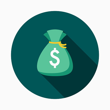 貨幣平面設計電子商務圖示向量圖形及更多Long Shadow - Shadow圖片