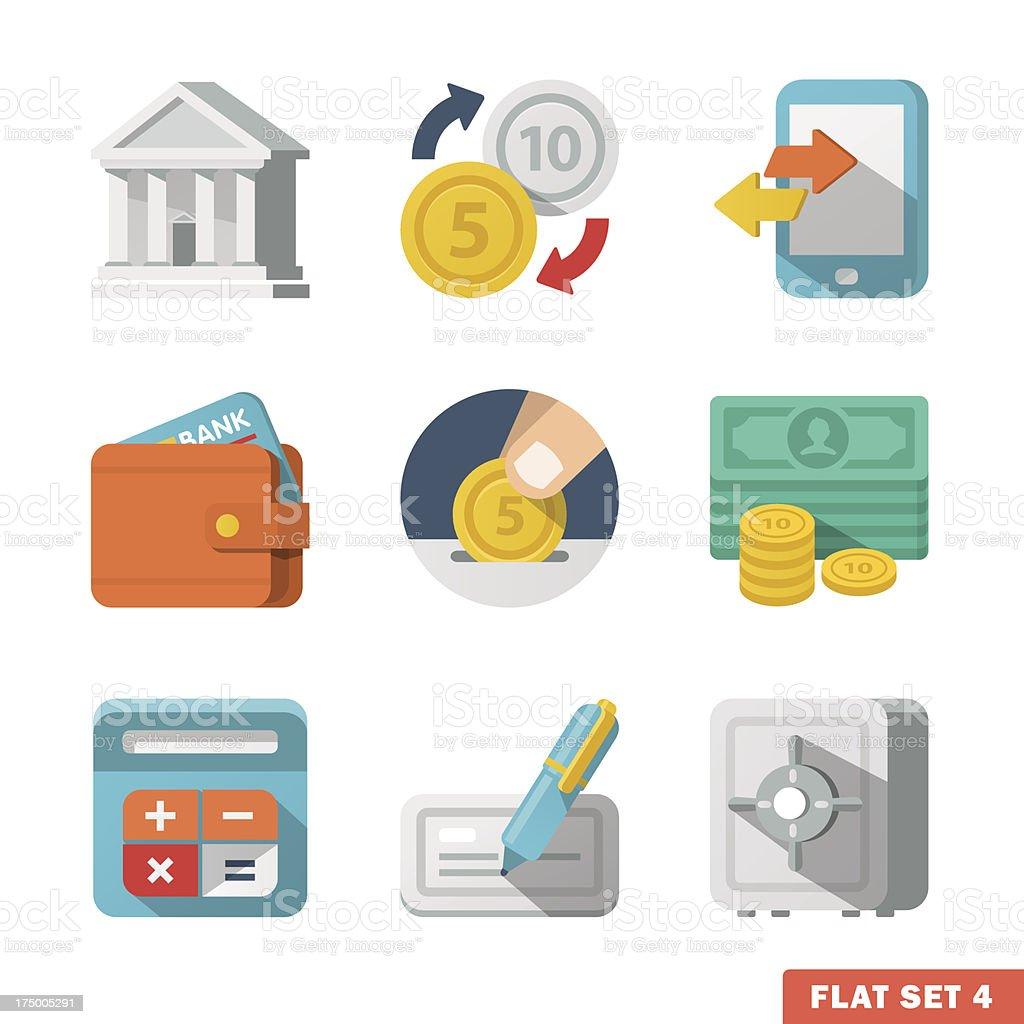 Money Flat icon set royalty-free stock vector art