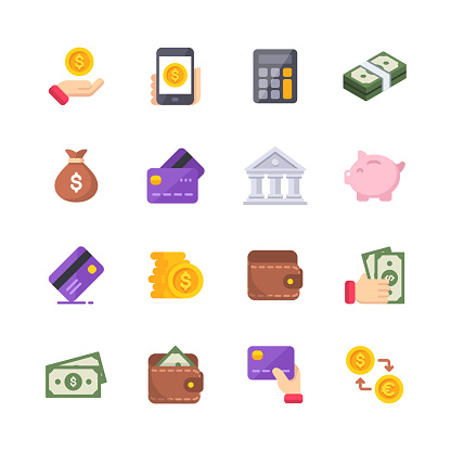 Money Flat Icons. Material Design Icons. Pixel Perfect. For Mobile and Web. Contains such icons as Isometric Money, Dollar Bill, Credit Card, Banking, Wallet, Coins, Money Bag, Currency Exchange.