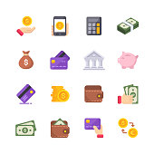 16 Money Flat Icons.