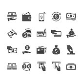 Money flat icons.