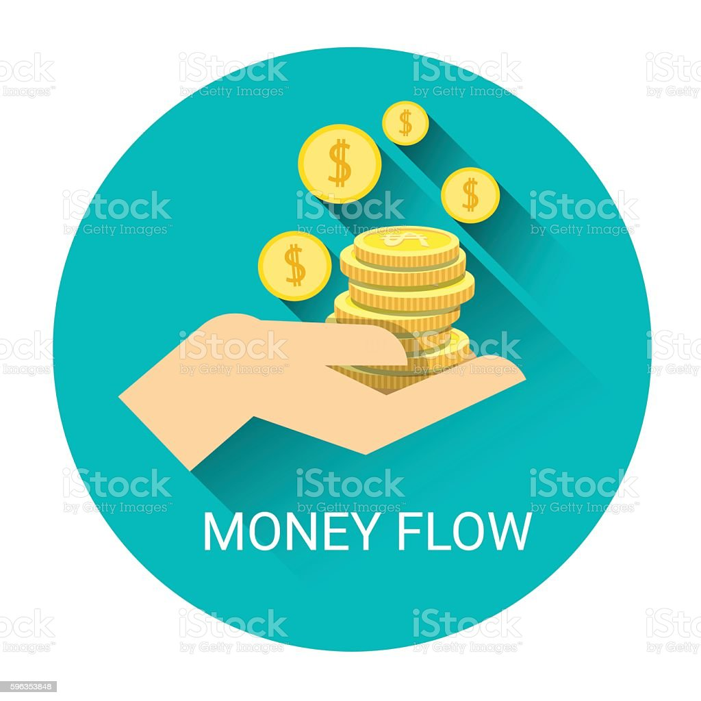 Money Flow Business Economy Icon royalty-free money flow business economy icon stock vector art & more images of bank