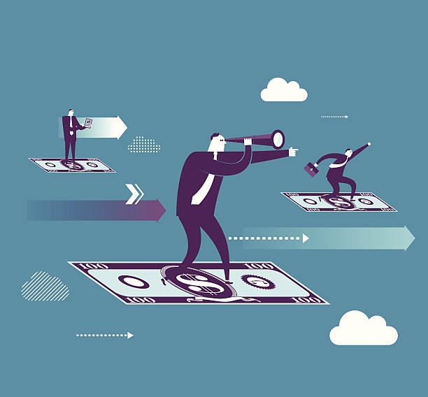 money flying - wealth stock illustrations, clip art, cartoons, & icons