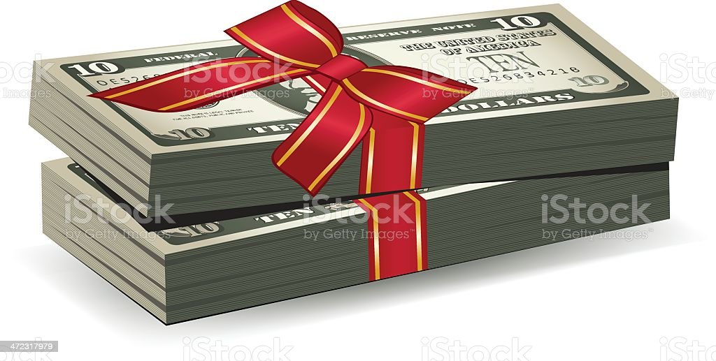 Money Giveaway royalty-free stock vector art