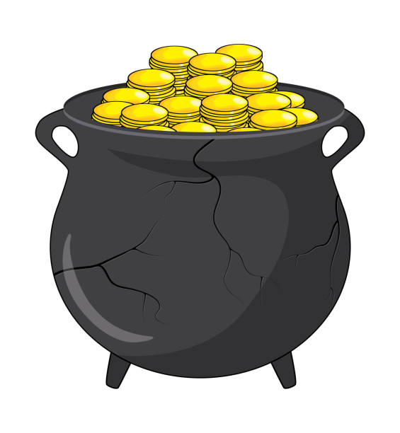 Royalty Free Cracked Pots Clip Art, Vector Images ...