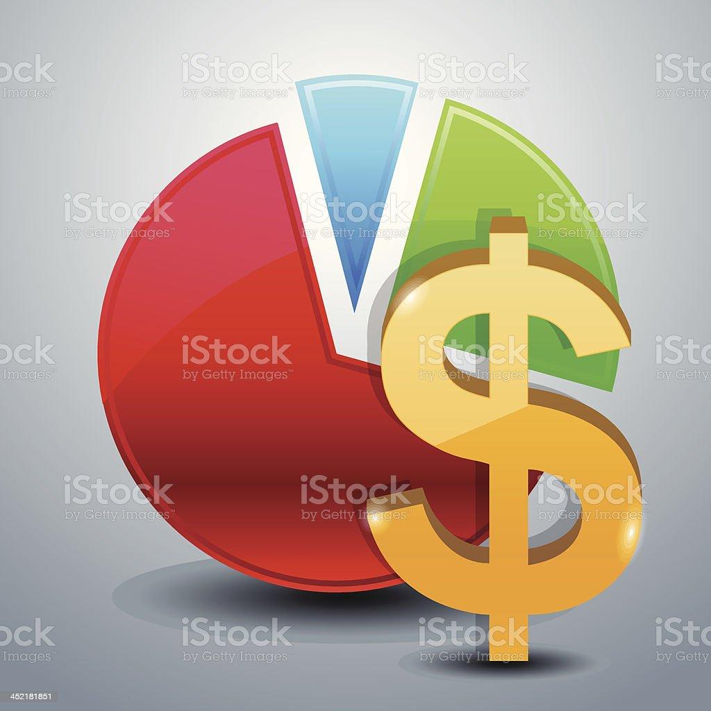 money graphs icon royalty-free stock vector art