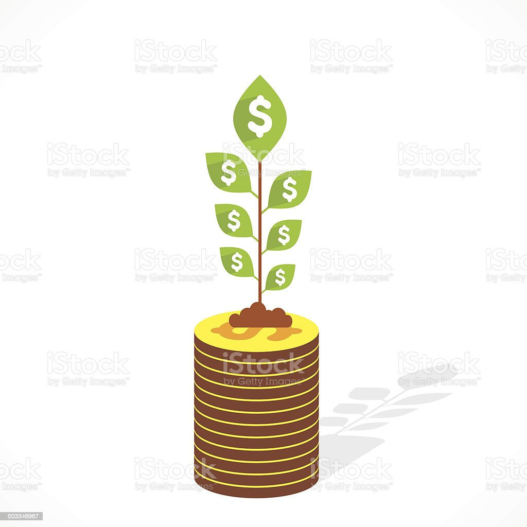 money grow plant royalty-free money grow plant stock vector art & more images of banking