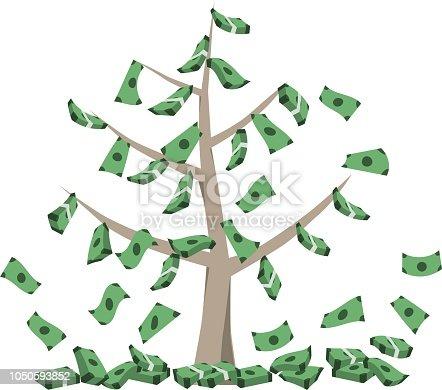 istock Geld wächst auf Baum. 1050593852